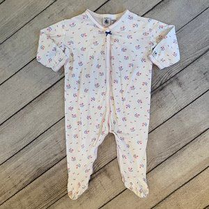 Petit Bateau Bay Girl One Piece Pajamas, Size 9 M.